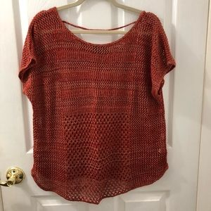 Ana light sweater Rust Large